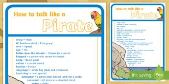 How to Talk like a Pirate Guide - pirate, speak, language, pirate talk,