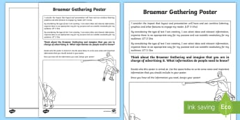 Braemar Gathering Design a Poster Activity Sheet - events, information, design, highland games, Scotland, Scottish, creating texts, Scottish