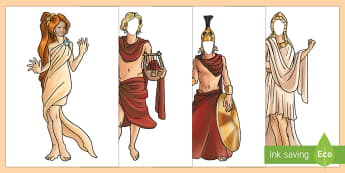 Ancient Greek Gods Editable Faces Display Cut-Outs - ancient greek, greek gods, gods, history topic, childrens face on poster, face missing poster, child