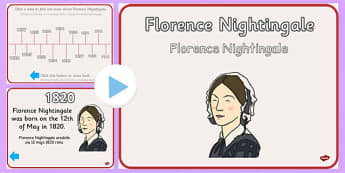Florence Nightingale Timeline PowerPoint Polish Translation - polish, florence nightingale, timeline
