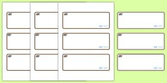 Badger Themed Editable Drawer-Peg-Name Labels (Blank) - Themed Classroom Label Templates, Resource Labels, Name Labels, Editable Labels, Drawer Labels, Coat Peg Labels, Peg Label, KS1 Labels, Foundation Labels, Foundation Stage Labels, Teaching Label