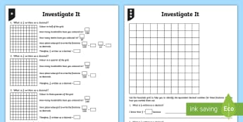 Decimal Equivalents for Halves and Quarters Differentiated Activity Sheets - fractions, decimals, equivalents, decimal equivalent, half, halves, quarter, quarters, three quarter
