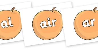 Phase 3 Phonemes on Giant Peach to Support Teaching on James and the Giant Peach - Phonemes, phoneme, Phase 3, Phase three, Foundation, Literacy, Letters and Sounds, DfES, display