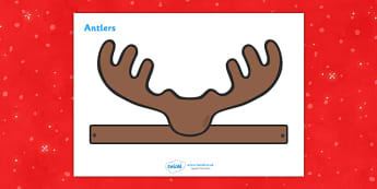 Reindeer Role Play Antlers -  Christmas, reindeer, antlers, beard, role play, play, xmas, Happy Christmas, tree, advent, nativity, santa, Jesus, tree, stocking, present, activity, father christmas, cracker, angel, snowman, advent