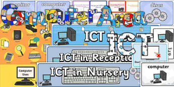 EYFS ICT or Computer Area Classroom Set Up Pack - ict, area, set up