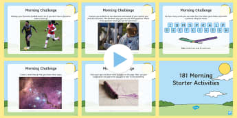 181 Key Stage 2 Morning Starter Activities PowerPoint - starters