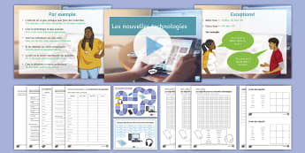 New Technologies Lesson Two: Comparative and Superlative French - KS4, French, New Technologies, français, nouvelles technologies, computer, ordinateur, mobile phone