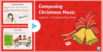KS1 Composing Christmas Music PowerPoint - Christmas, Nativity, Jesus, xmas, Xmas, Father Christmas, Santa, Christmas music, composing, instrum