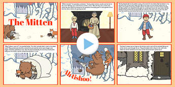 The Mitten PowerPoint - the mitten, powerpoint, story, tale