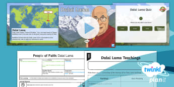 PlanIt - RE Year 4 - People of Faith Lesson 2: Dalai Lama Lesson Pack - Dalai Lama, Tibet, Buddhism, Buddhist, monk, China, India