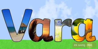Vara Litere decupabile - vara, vară, anotimpuri, română, materiale, flori de vară,a nimale vara, insecte, lumea vie, vrem