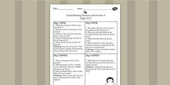 Guided Reading Questions Pages 12-17 to Support Teaching on Ug - ug, guided reading