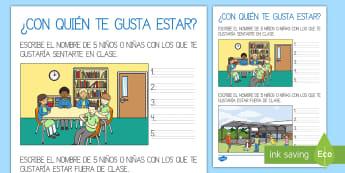 Relaciones sociales en la clase - sociograma, relaciones, relaciones sociales, clase