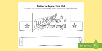 Go Team New Zealand Colour a Supporter's Hat Activity - team new zealand, emirates team new zealand, colouring, supporter, sailing, americas cup, racing