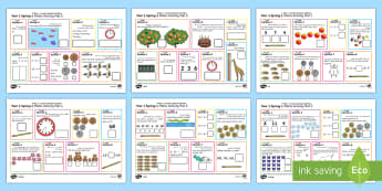 Year 1 Spring 1 Maths Activity Mats Arabic/English - Year 1, maths, activity mats, questions, answers, read, reason, predict, find, total, equals, add, a