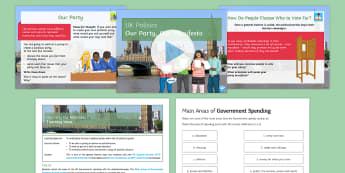 Our Party, Our Manifesto Lesson Pack - General Election 08/06/2017, politics, manifesto, government spending, party, policy, policies, mock