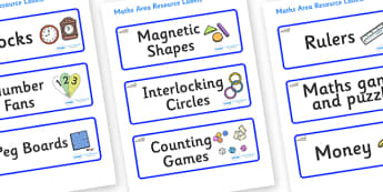 Seal Themed Editable Maths Area Resource Labels - Themed maths resource labels, maths area resources, Label template, Resource Label, Name Labels, Editable Labels, Drawer Labels, KS1 Labels, Foundation Labels, Foundation Stage Labels, Teaching Labels