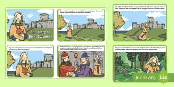 Saint Dwynwen Story Sequencing Cards - Saint Dwynwen, santes Dwynwen, St Dwynwen, Wales,,Welsh