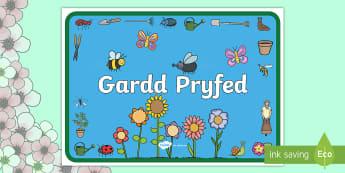 Poater Arddangos Gardd Pryfed Poster Arddangos A4 - poster arddangos, pryfed, gardd, yr ardd,Welsh
