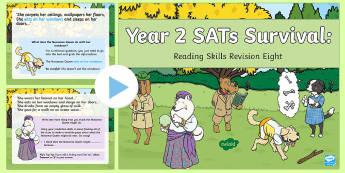 Year 2 SATs Survival: Reading Skills Revision PowerPoint 8 - SATs Survival Materials Year 2, SATs, assessment, 2017, English, SPaG, GPS, grammar, punctuation, sp