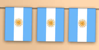 Argentina Flag Bunting - flags, countries, world, olympics, rio, 2016, events, south america, andes, mountains, buneos aires, spanish