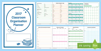 2017 Classroom Organisation Planner - New Zealand, Back to School, Class Organisation