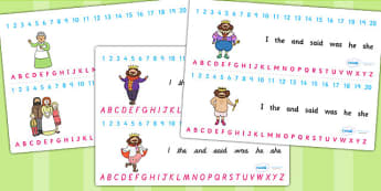 The Emperors New Clothes Combined Number and Alphabet Strips