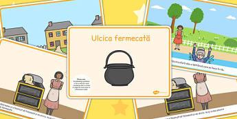 Ulcica fermecata, lectura, rezumat cu imagini, planse imprimabile, Romanian