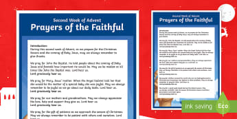 Christmas Prayers of the Faithful Print-Out - prayers of the faithful, Catholic, ROI, Ireland, Christmas, assembly, prayer service, religion,Irish