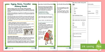 KS2 Gypsy, Roma and Traveller History Month Differentiated Reading Comprehension Activity -  KS2 GRTHM, Gypsy, Roma, Traveller, History Month, differentiated reading activity, multiple choice,