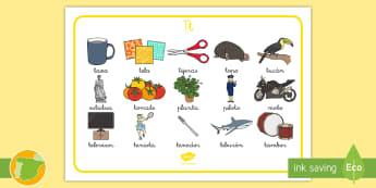 Tapiz de lectora: La letra T  - juego lectoescritura, juego lecto, juego didáctico, lecto, sonidos, lecto-escritura, fonemas, sonid