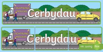 Baner Arddangosfa Cerbydau - Cerbydau, ceir, fan, beic, baner, baner arddangosfa, thema, cludiant,  cerbyd,Welsh