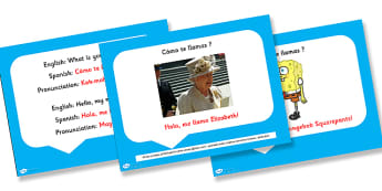 Spanish What is Your Name PowerPoint - visual, display, visual