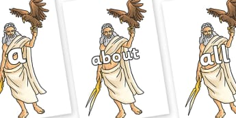100 High Frequency Words on Zeus - High frequency words, hfw, DfES Letters and Sounds, Letters and Sounds, display words