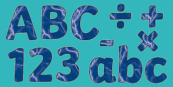 Electricity Themed Display Letters and Numbers Pack - Science lettering, Science display, Science display lettering, electricity, display lettering, display, letter, number