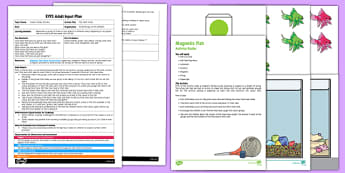 EYFS Fish Tank Totals Adult Input Plan and Resource Pack