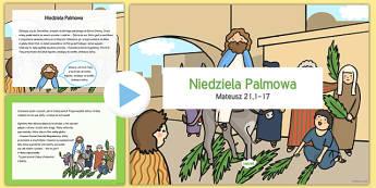 Prezentacja PowerPoint Niedziela Palmowa po polsku - wielkanoc