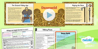 PlanIt History LKS2 Vikings Anglo-Saxons Lesson 3 Danegeld Pack