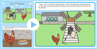 The Little Red Hen Story PowerPoint - stories, story books, story