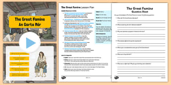 The Great Famine Lesson Pack - gaeilge, the great famine, lesson pack, lesson, pack, famine