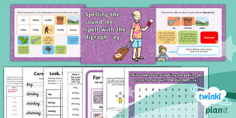 PlanIt Y2 Term 2B W2: /ee/ spelt 'ey' Spelling Pack - Spellings Year 2, Term 2B, w2, vowel digraph, ee, ey
