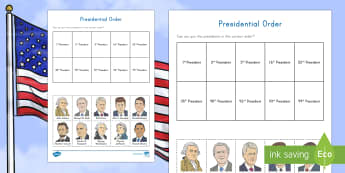 Presidents' Day Cut and Stick Activity Sheet - American Presidents, American History, Social Studies, Barack Obama, George Washington, Thomas Jeffe