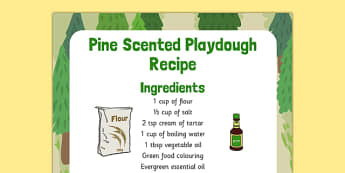 Pine Scented Playdough Recipe - pin scented, playdough, recipe, pine
