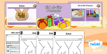PlanIt - RE Year 1 - Gifts and Giving Lesson 6: Eid al-Fitr Presents Lesson Pack - Eid al-Fitr presents, Zakat