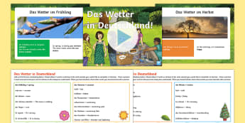Weather in Germany Lesson Teaching Pack German - Weather Resources, das wetter, desutch, german, germany, mfl, languages, ks2