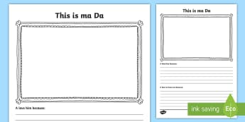 This Is Ma Da Scots Activity Sheet - CfE Father's Day June 18th,Scottish, worksheet,