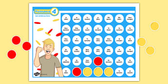 4 en Ligne Future Tense Self-Checking Board Game Self-Checking Board Game - French