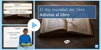 World Book Day Guess The Book PowerPoint - KS3, Spanish, World,  Book, Day, titles, translation, cognates, powerpoint, guess