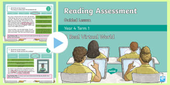 Year 4 Reading Assessment Fiction Term 1 Guided Lesson PowerPoint - Year 3, Year 4 & Year 5 Reading Assessment Guided Lesson PowerPoints, KS2, reading, read, assessment