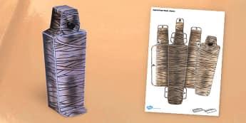 Egyptian Mummy Paper Model - paper model, egypt, mummy, craft